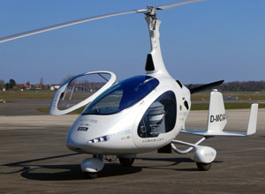 Cavalon Gyrocopter with installed Gravity System on the airfield after successful first flight